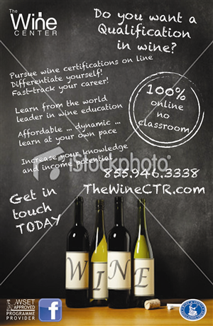 Poster Design by Lou Sharp - Professional On-line Wine Education Course Poster