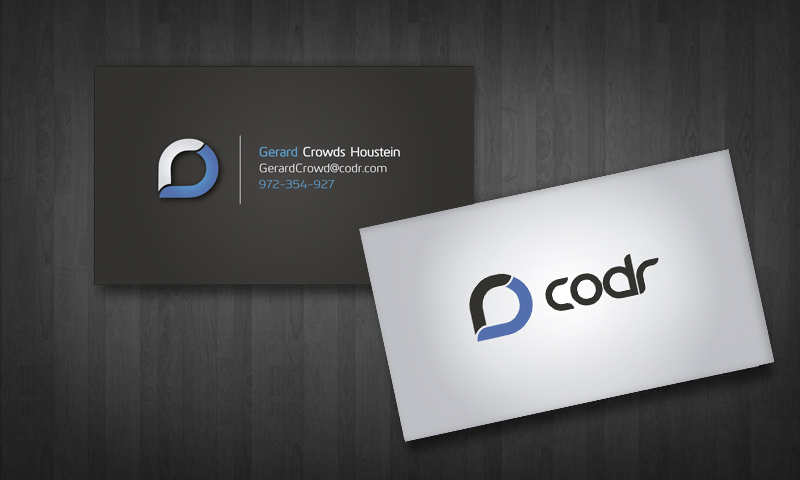 173 professional business card designs university business card business card design by silviaer for codr software design 1677354 reheart Choice Image
