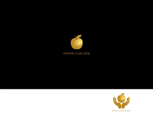 logo design for the golden apple  for a food guide  logo Style Guide Logo Template Margins in Logo Style Guide