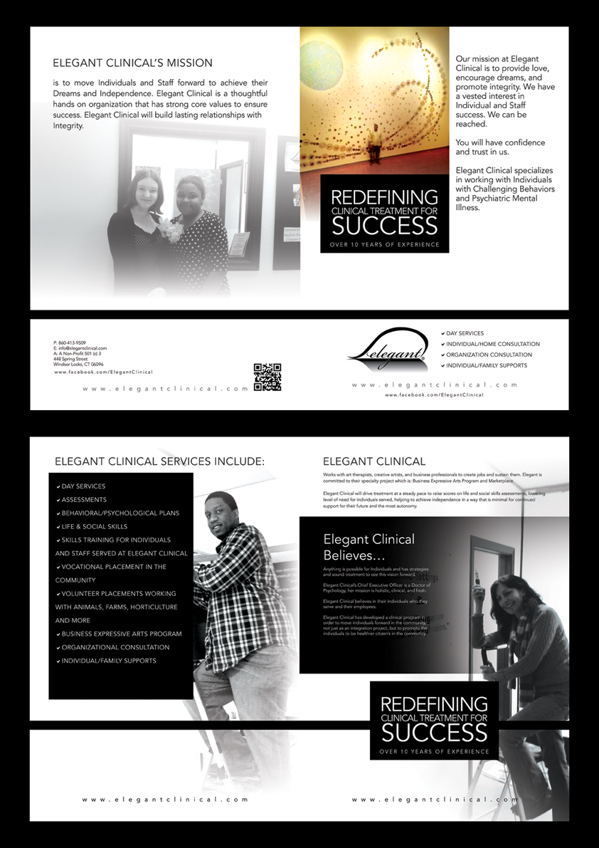 Elegant playful brochure design for karen lapienski by for Classy brochure design