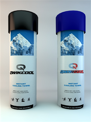 Packaging Design by JCR - Qwik Cool Premium Cooling Towel