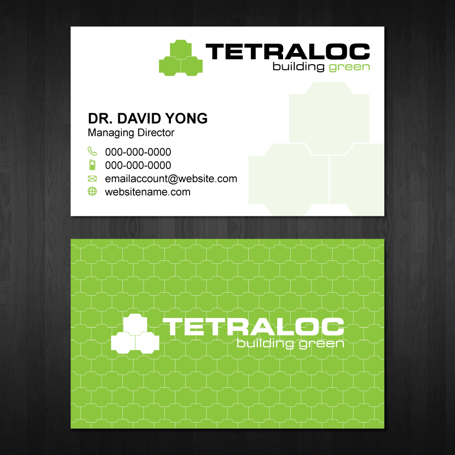 Modern professional construction business card design for tetraloc business card design by bluemedia for tetraloc design 6310046 reheart Image collections