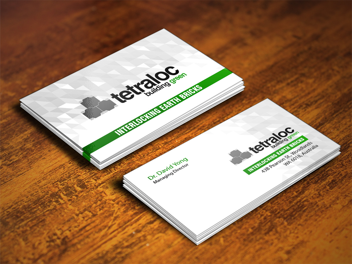 Modern, Professional Business Card Design for TETRALOC by ...