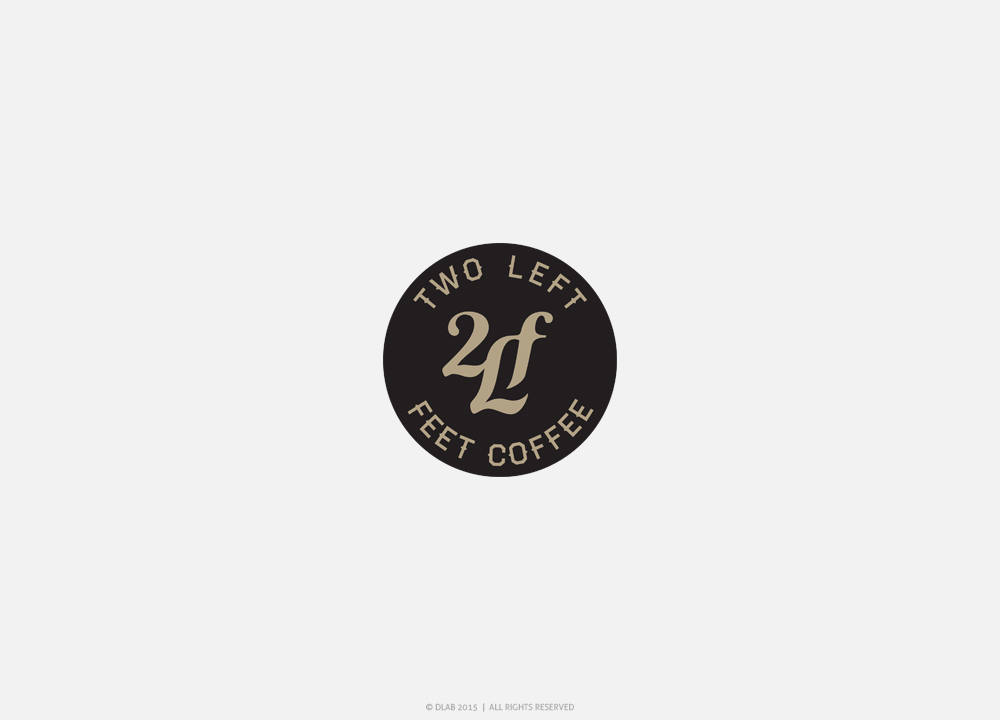 traditionnel amusant it company design de logo for 2 l f two left feet coffee by dlab. Black Bedroom Furniture Sets. Home Design Ideas