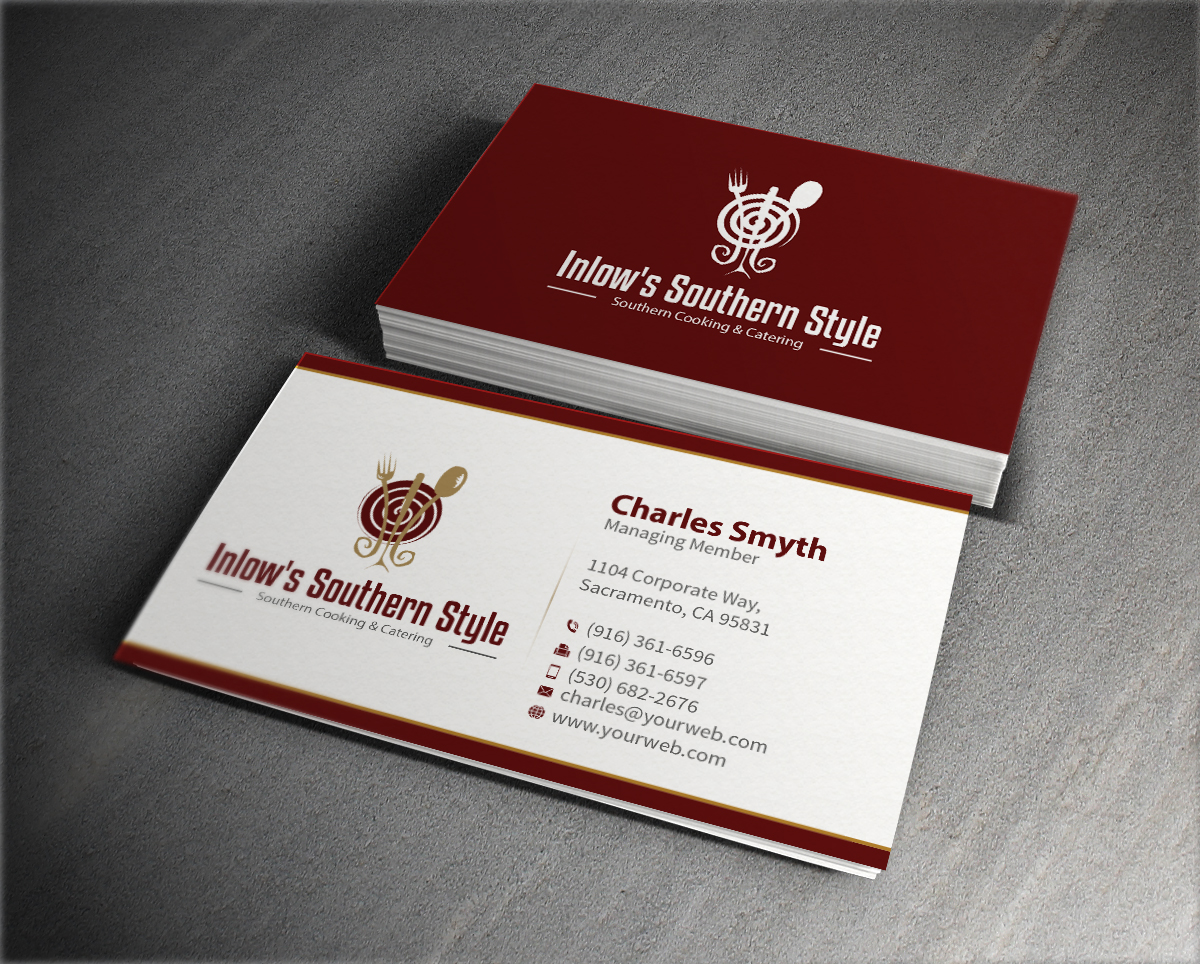 Elegant, Traditional, Restaurant Business Card Design for a Company ...