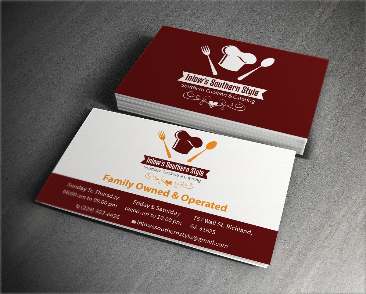 Elegant traditional restaurant business card design for a company business card design by mediaproductionart for this project design 6291149 reheart Image collections