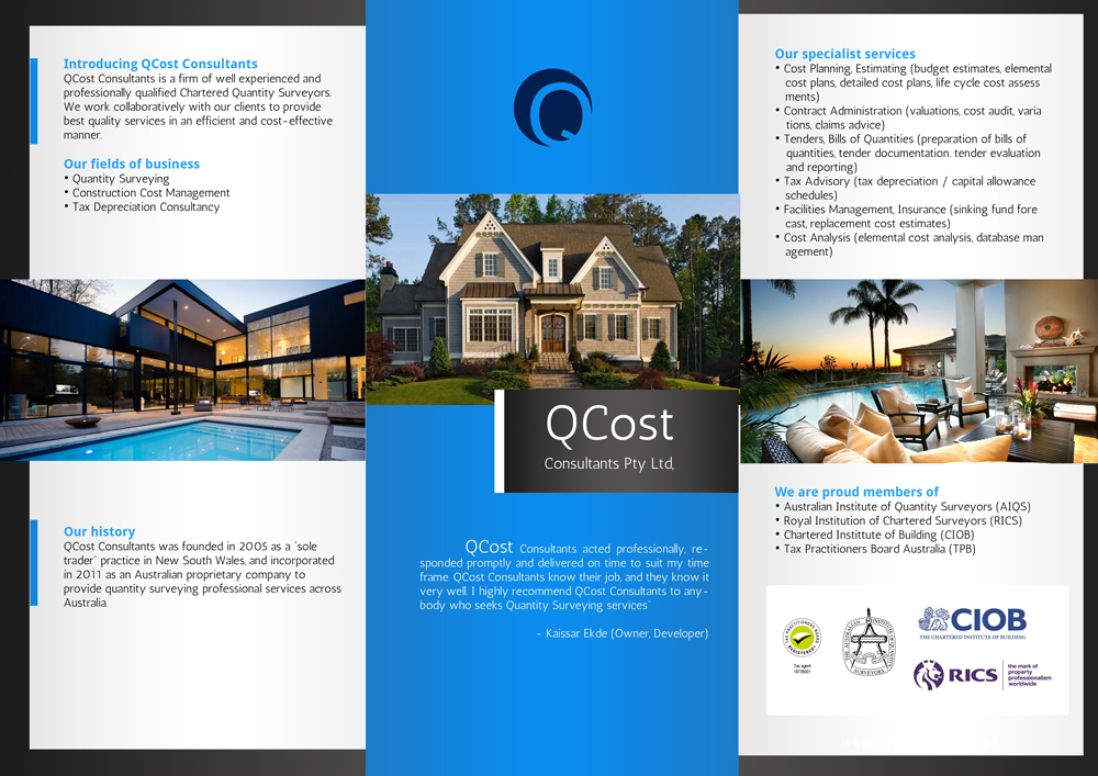 Professional, Serious, It Company Flyer Design for QCost