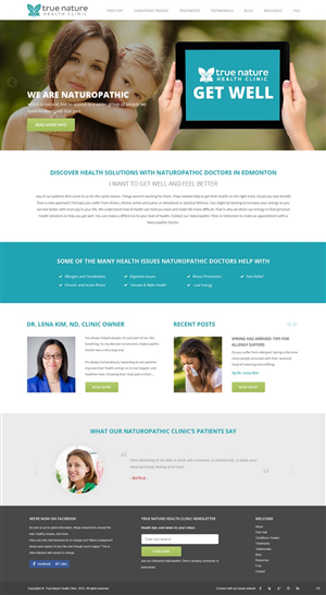 A great home page slider image for True Nature Health Clinic   64