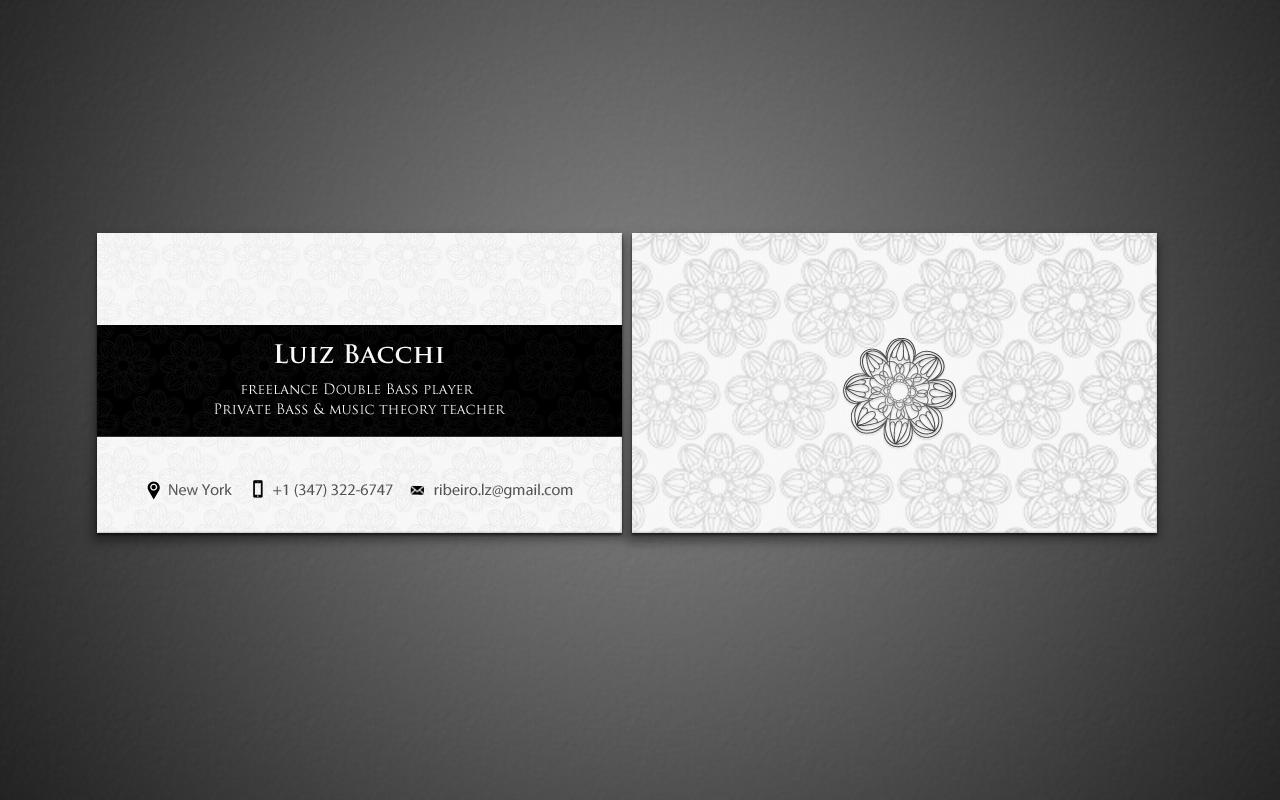 Business Card Design for luiz Bacchi by pixelfountain | Design #6305685