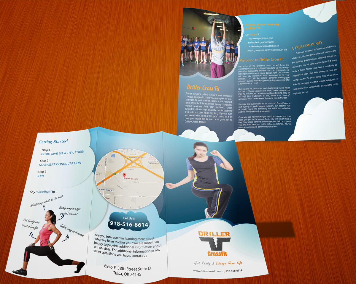 Personable, Feminine Brochure Design for Driller CrossFit by ...