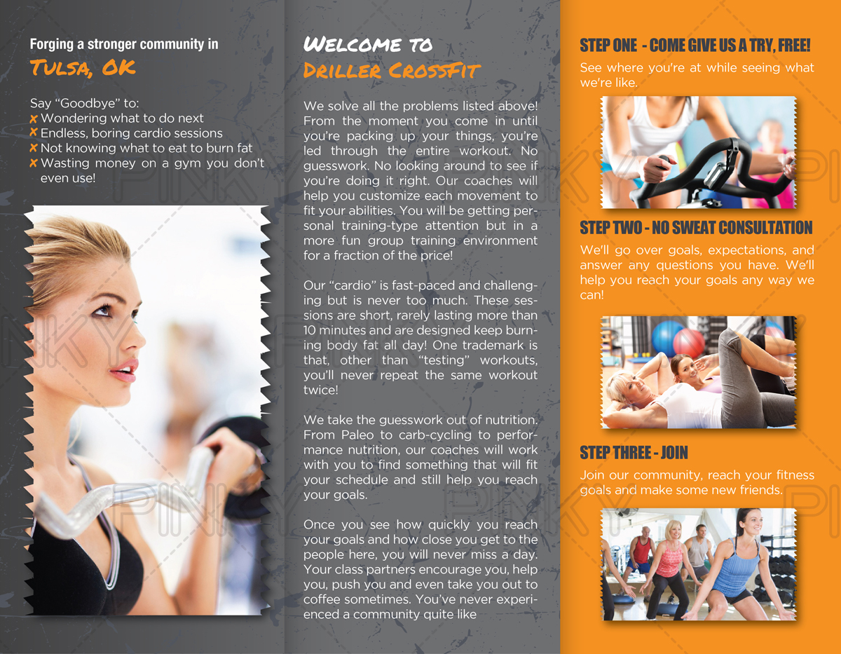 Personable, Feminine Brochure Design for Driller CrossFit by Pinky ...