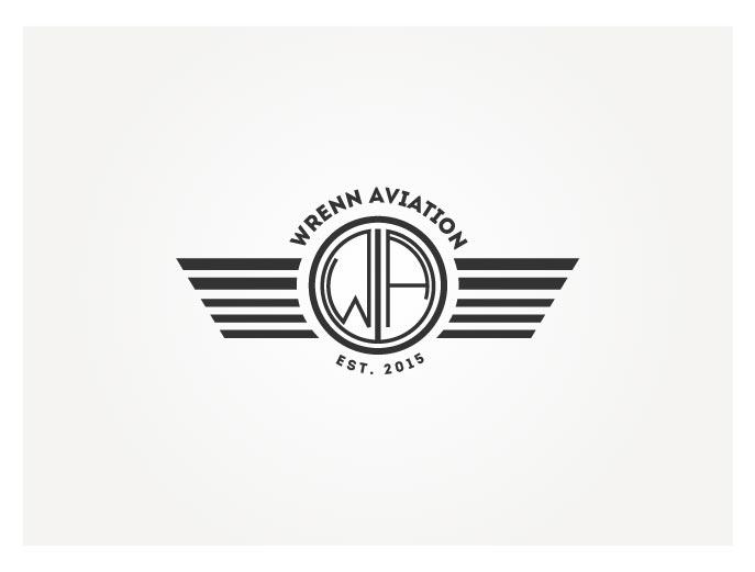 elegant playful logo design for wrenn aviation by wonderland design 6314450. Black Bedroom Furniture Sets. Home Design Ideas