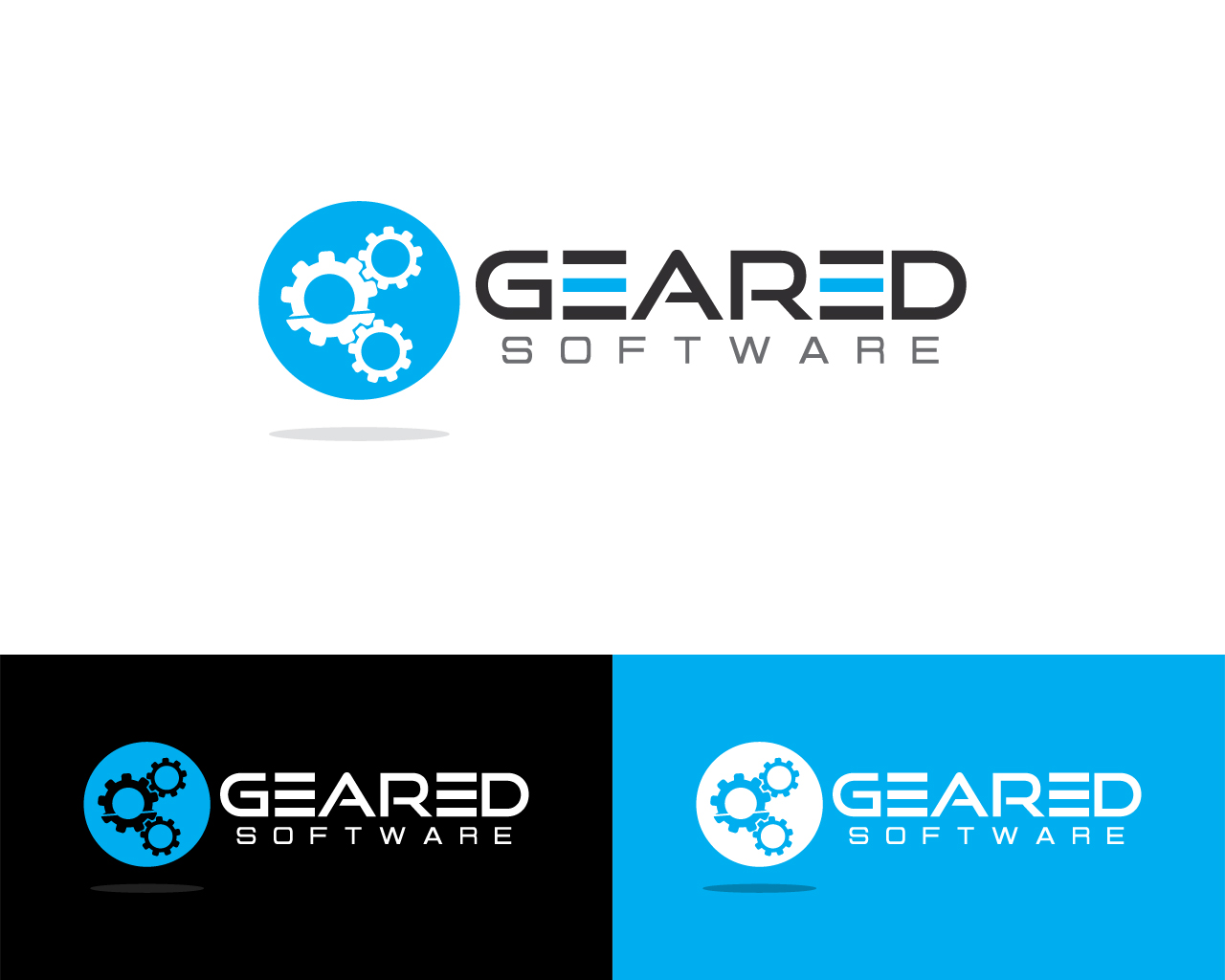 Modern professional software logo design for geared for Logo drawing program
