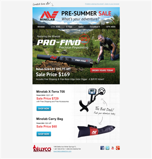 Newsletter Design by kimurphy - Product Email Campaign (Pre-Summer Sale)