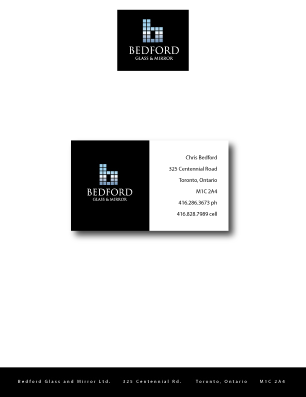 Business Business Card Design for Bedford Glass and Mirror Ltd. by ...