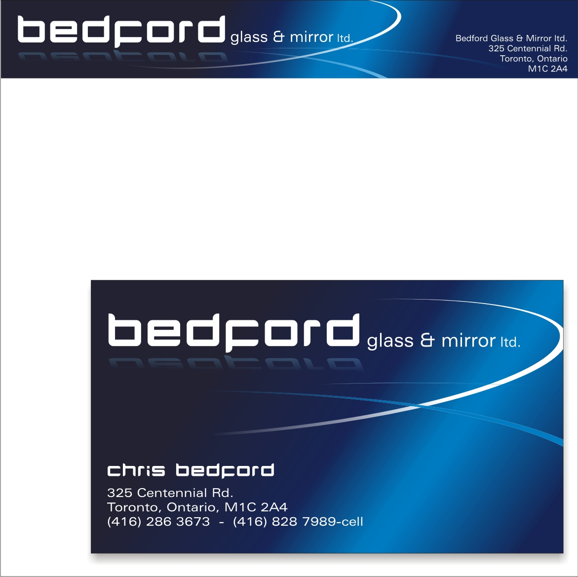 Business card design for bedford glass and mirror ltd by lush business card design by lush graphix for business card for glass company design 9649 magicingreecefo Image collections