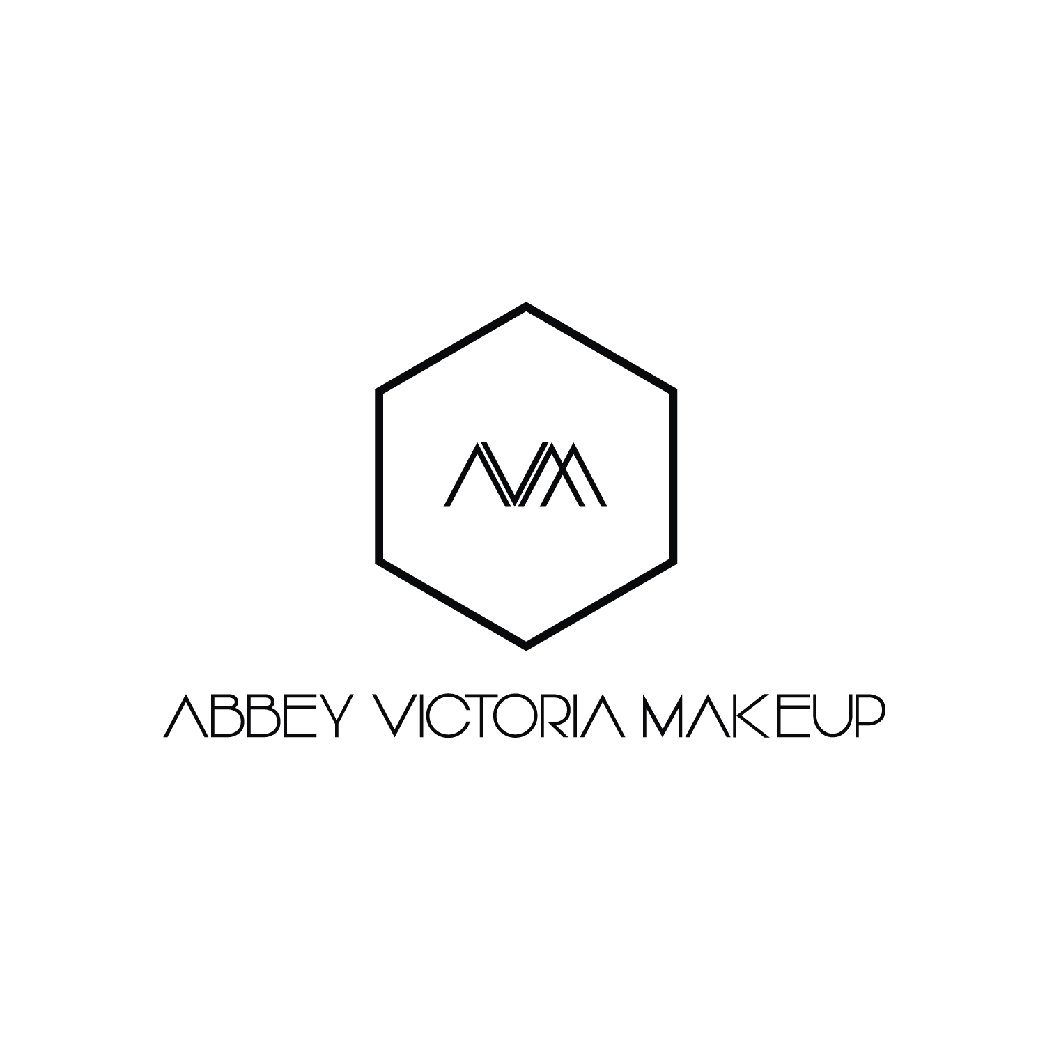 Abbey Victoria Makeup Logo Design by 	 arlaine cochon