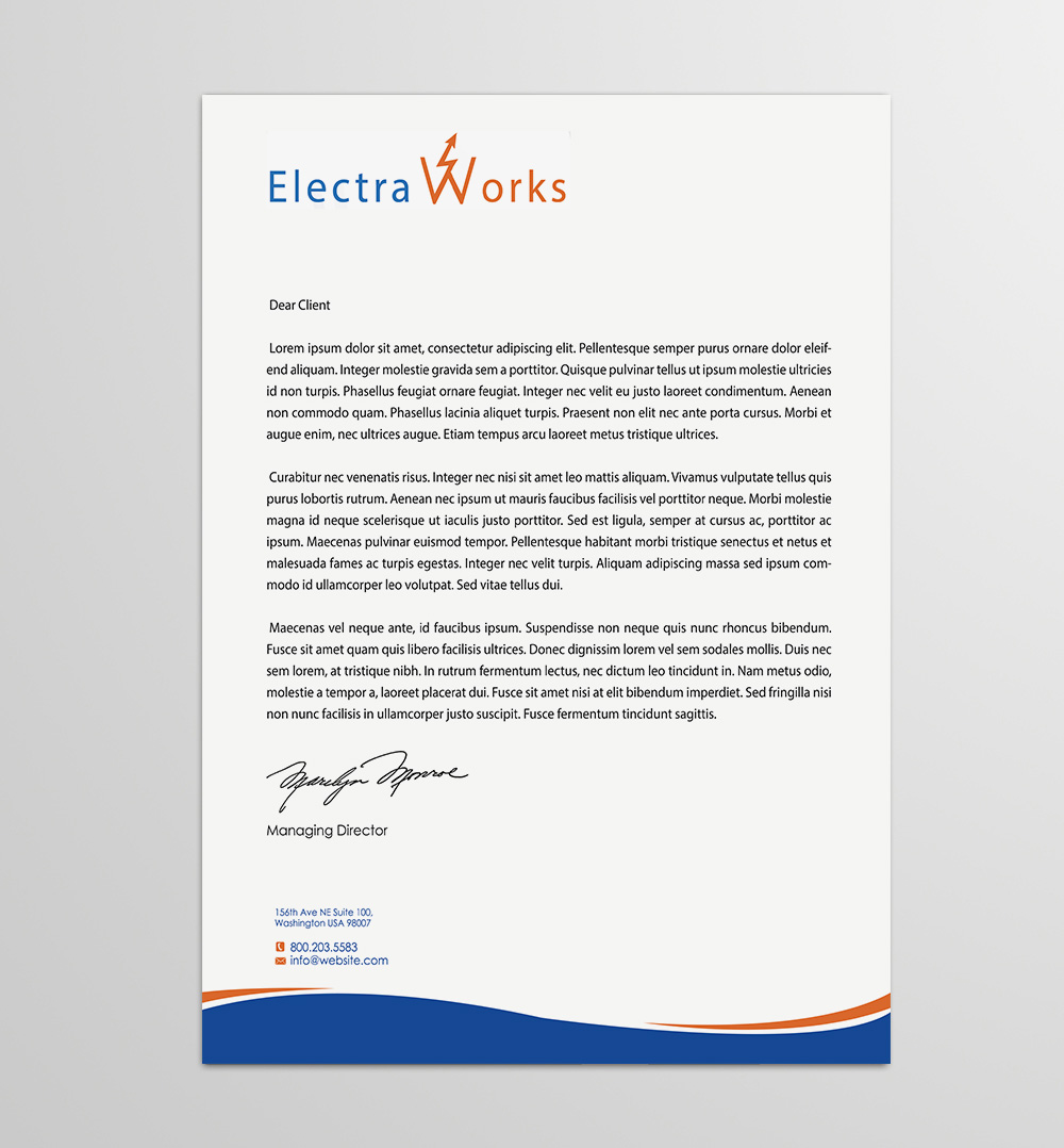 Electrician Company Letterhead Manual Guide Wiring Diagram Harbor Breeze 0020974 0403516 Colorful Bold Design For Electraworks By Gtools 6427944 Examples