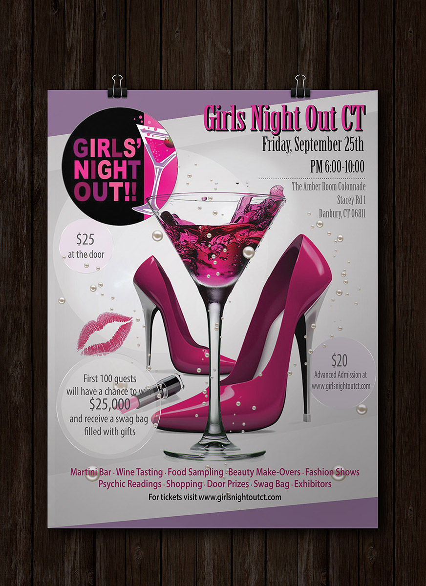 feminine upmarket event flyer design for dvp llc by alex989