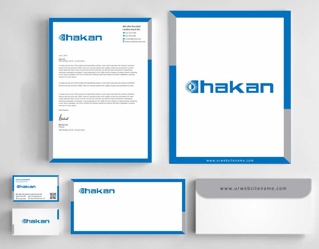 Masculine, Serious, It Company Stationery Design for Hakan Agro DMCC