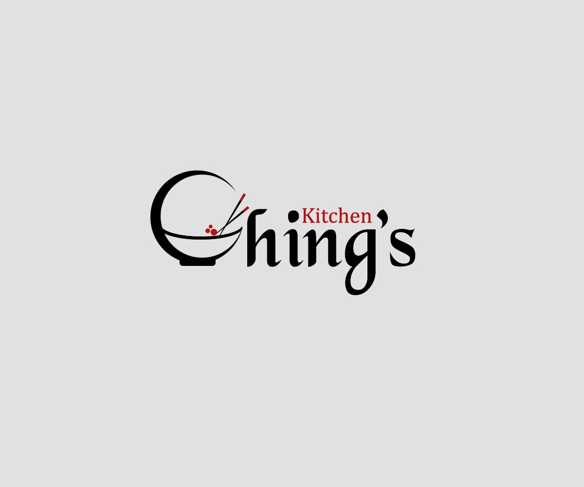 Elegant modern restaurant logo design for ching 39 s for Kitchen designs logo