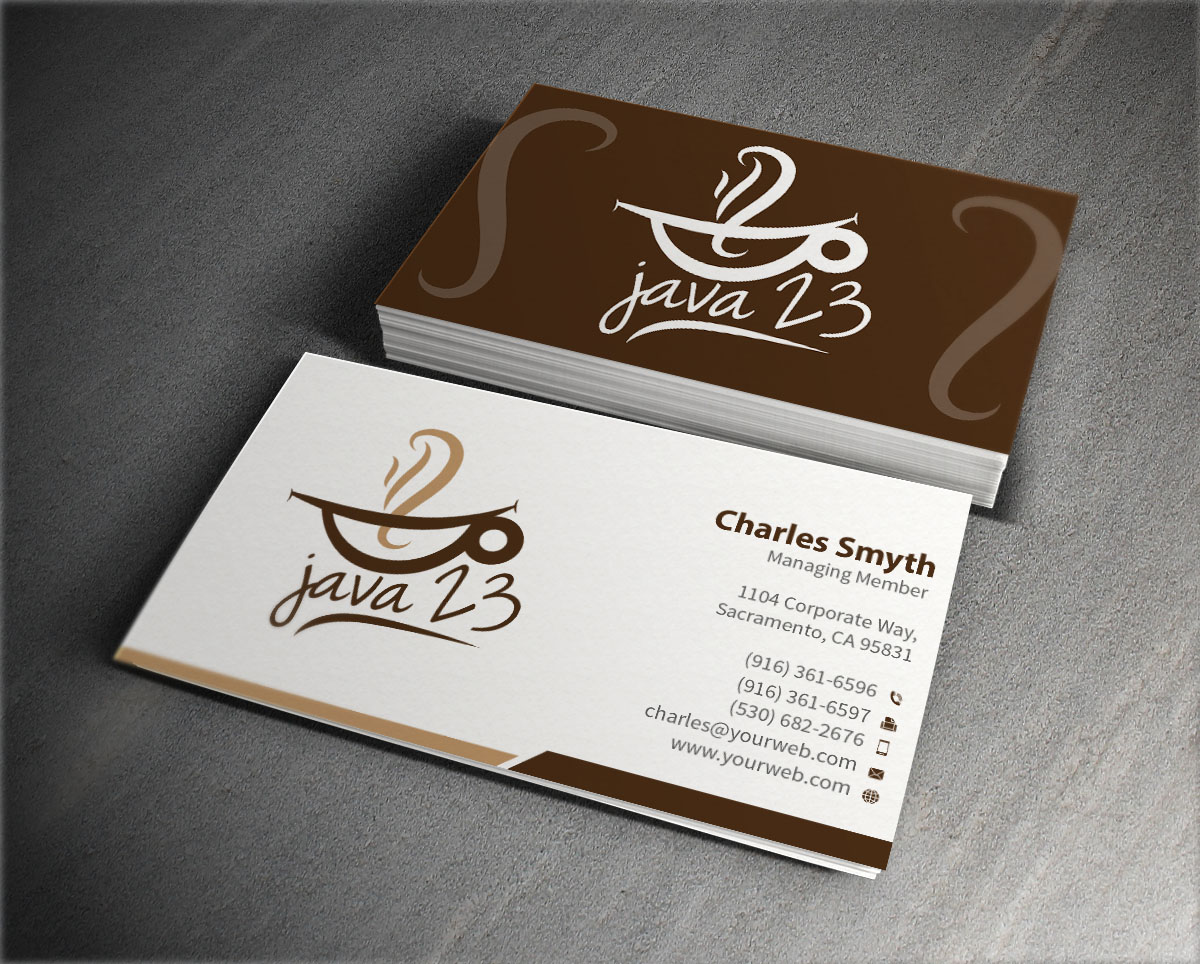 Upmarket, Elegant, Coffee Shop Business Card Design for a Company by ...