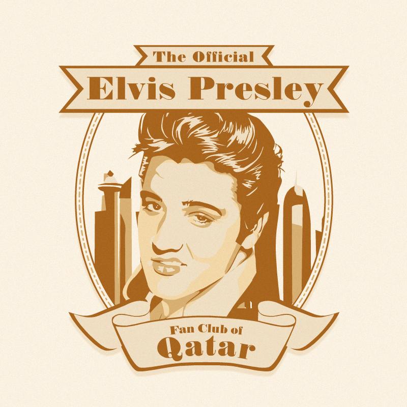 Elegant Traditional Club Logo Design For The Official Elvis