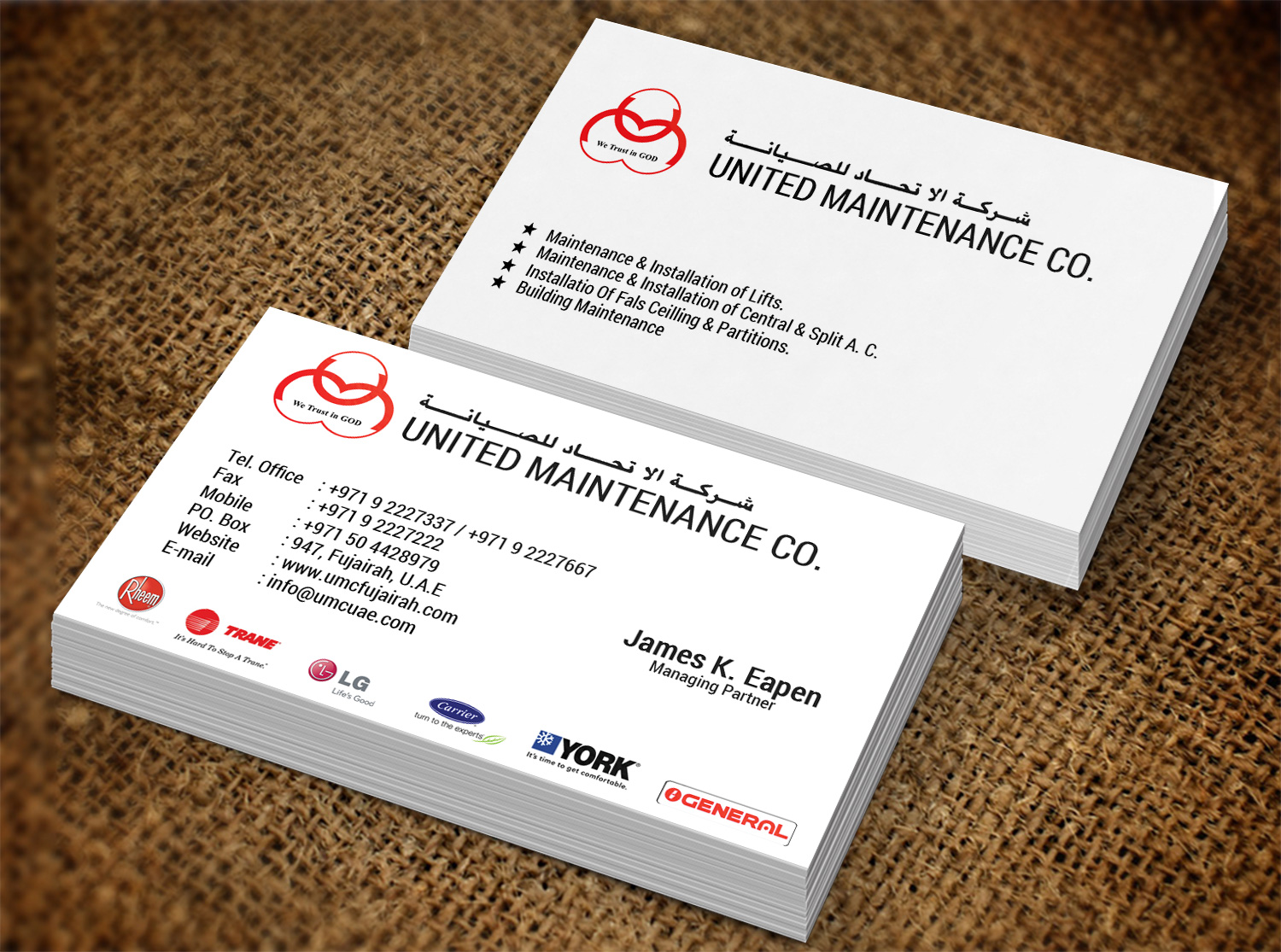 Modern, Bold, Hvac Business Card Design for a Company by Creation ...