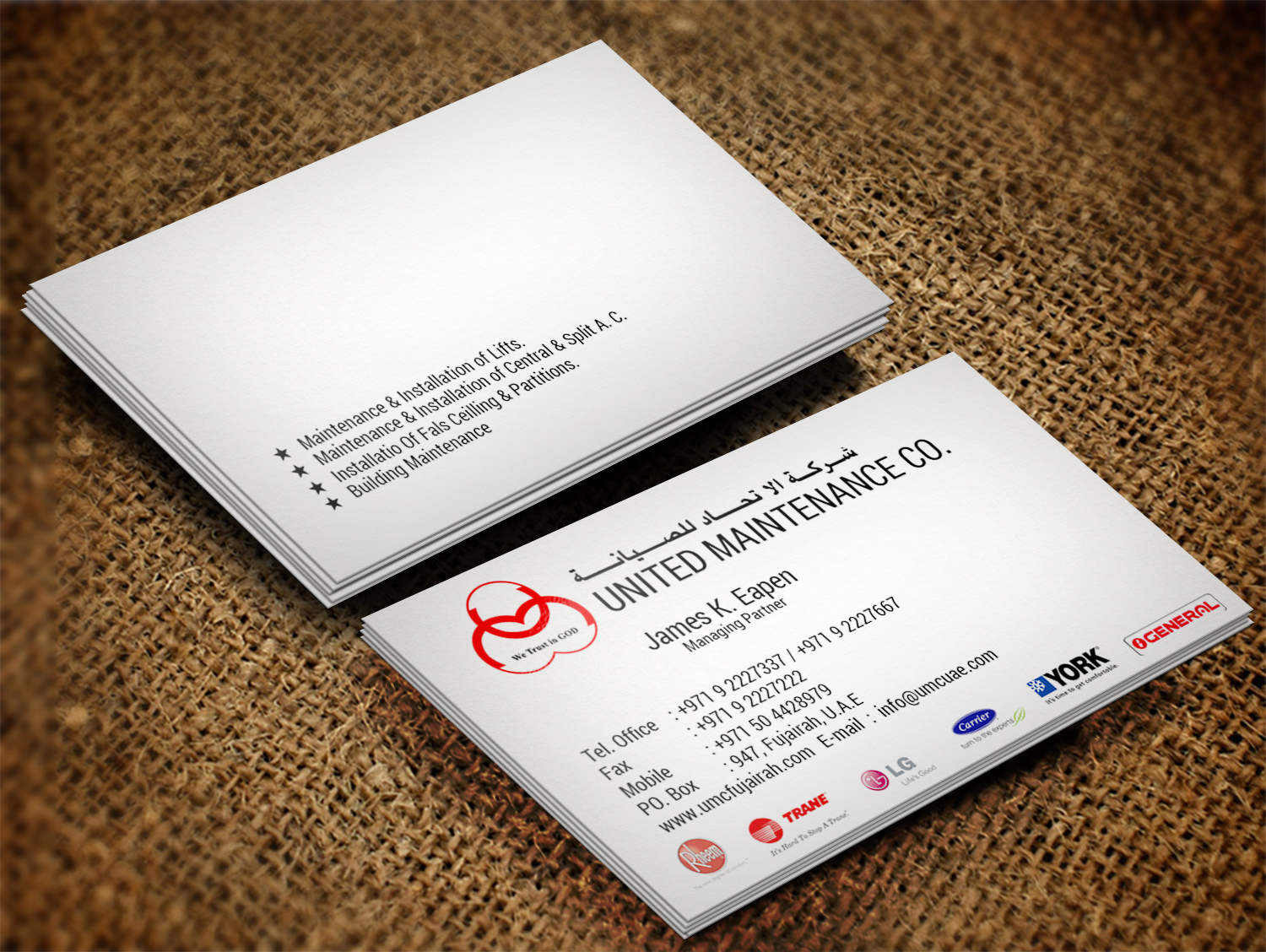 Modern, Bold Business Card Design for Joel James by Lanka Ama ...