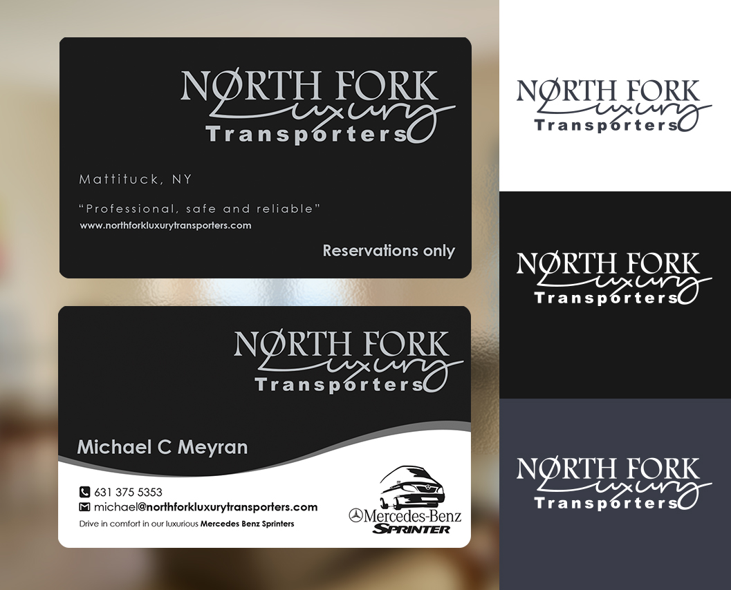 Serious, Upmarket, Tv Business Card Design for North Fork Luxury ...