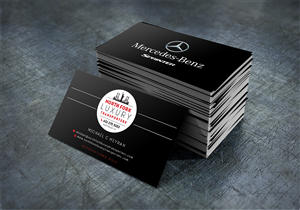 26 serious upmarket business card designs for a business for Mercedes benz business cards