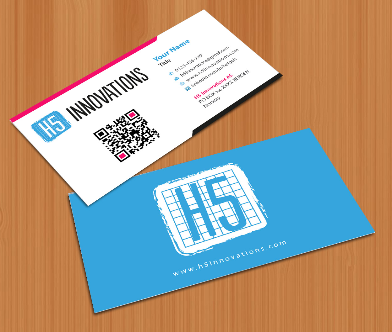 Playful, Modern Business Card Design for H5 Innovations by Sbss ...