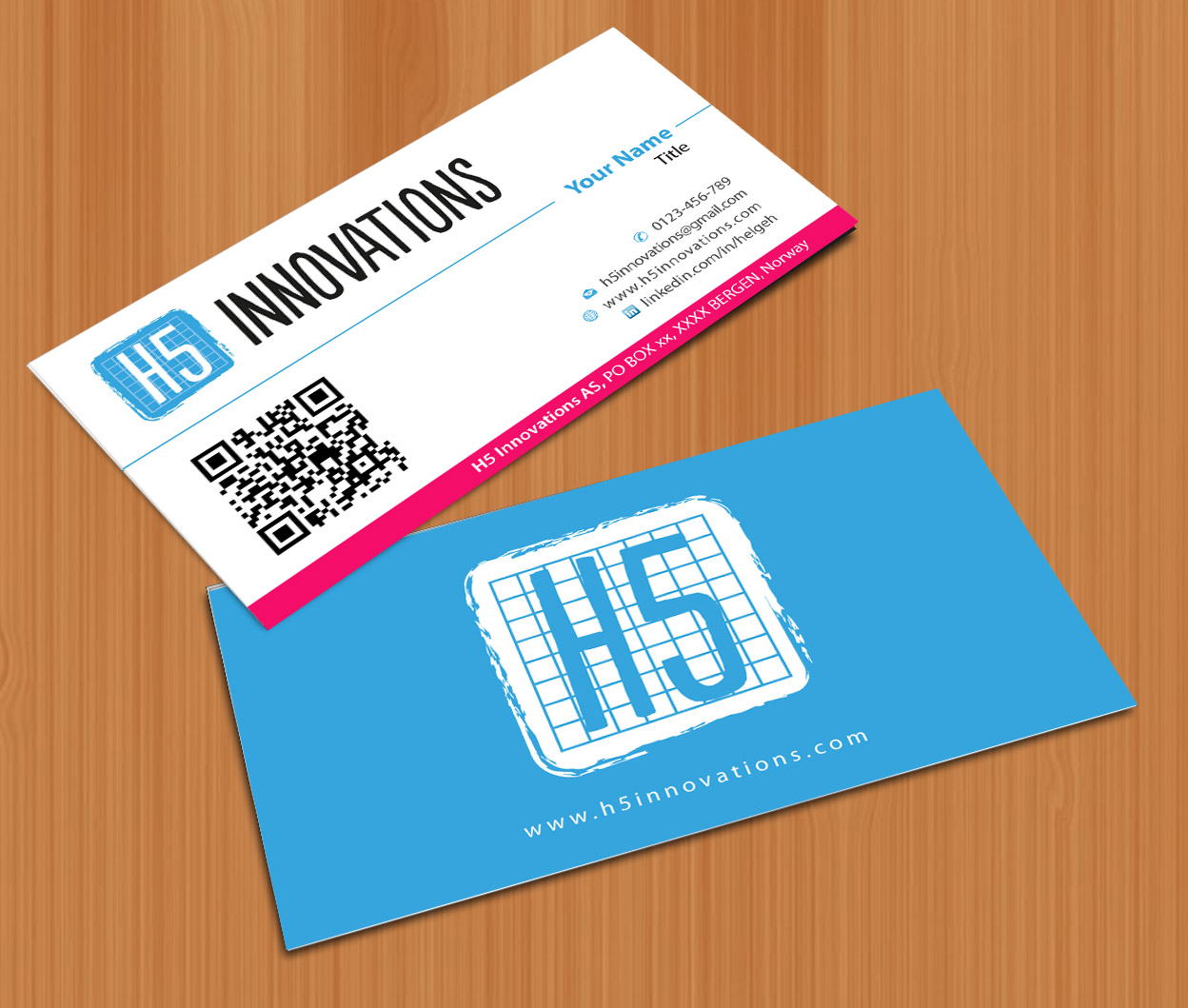 Playful modern business card design for h5 innovations by smart business card design by smart for business card design for crazy technology innovation company design magicingreecefo Gallery