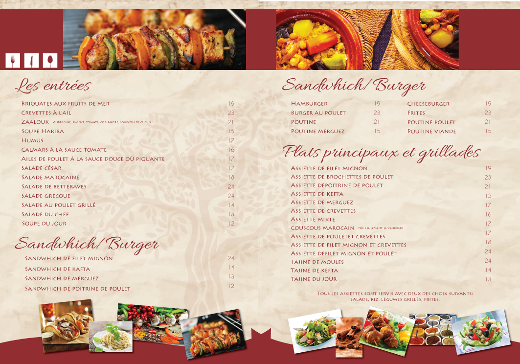 Serious elegant restaurant menu design for a company by