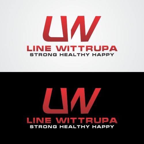 professional elegant personal trainer logo design for