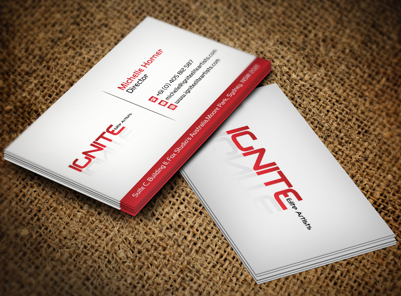 Modern, Upmarket, Film Production Business Card Design for Ignite ...