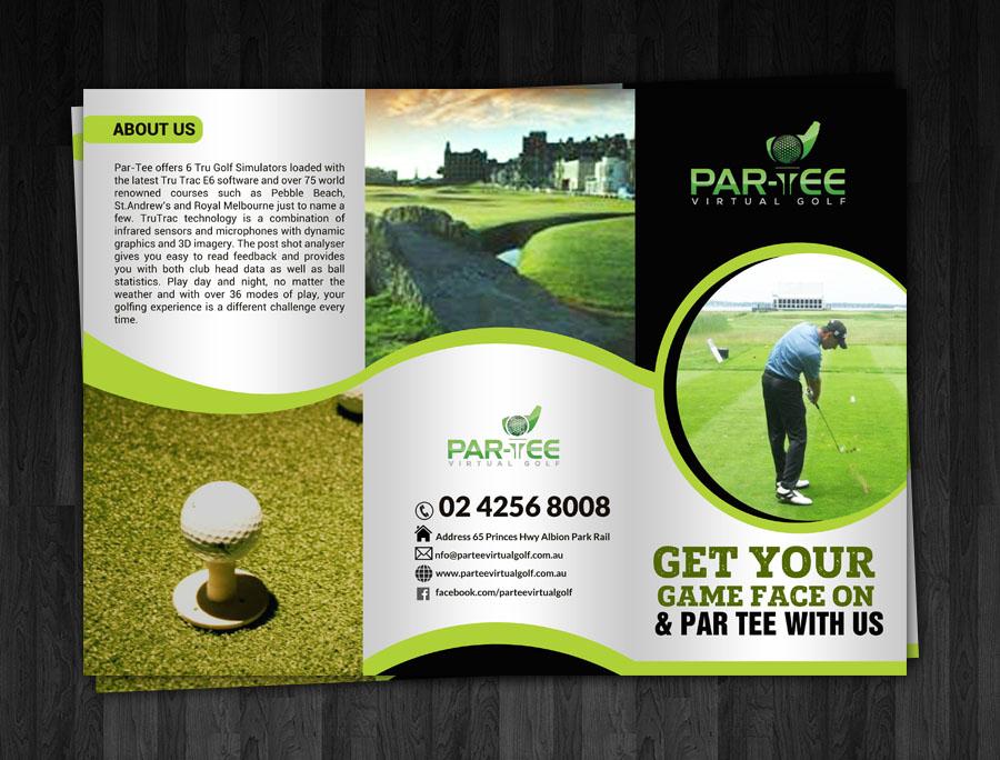 Modern, Elegant Brochure Design for Par-Tee Virtual Golf by ...