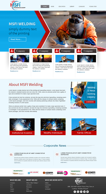 Professional, Serious, Welding Web Design for ICELANDIC