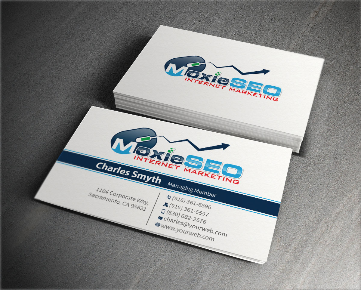 Bold, Professional, Internet Business Card Design for Moxie SEO by ...
