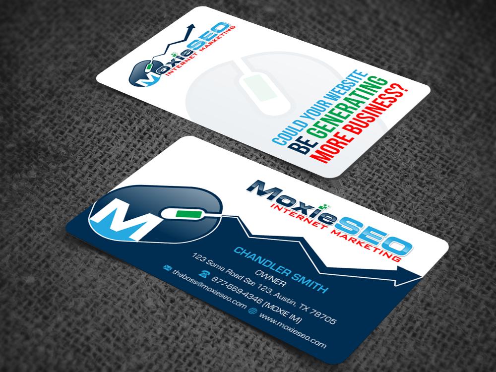 135 bold business card designs internet business card design business card design by pixelfountain for moxie seo design 6405451 colourmoves