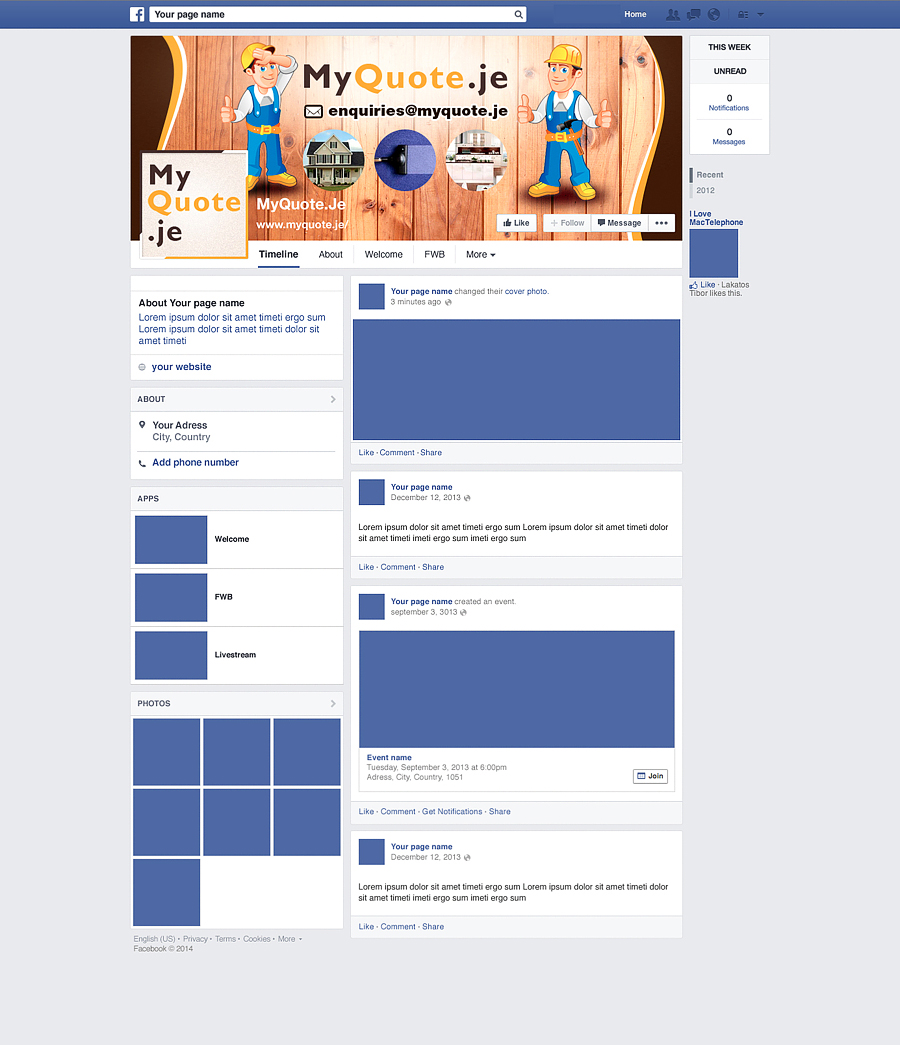Construction Facebook Design for a Company by Latest Design