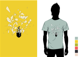 T-shirt Design job – Amnesty International T-shirt Design – Winning design by andrewjonathanb
