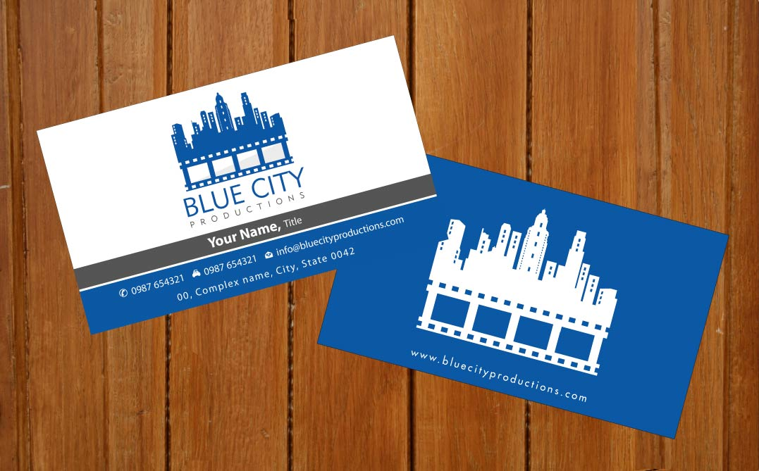 Modern professional film production business card design for a business card design by sbss for this project design 1690267 colourmoves