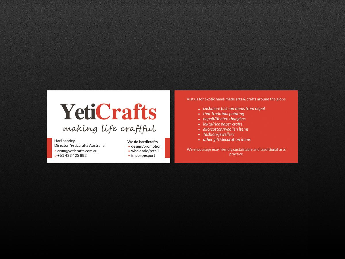 Elegant playful business card design for ag services by creations business card design by creations box 2015 for yeticrafts business card design 6421615 colourmoves