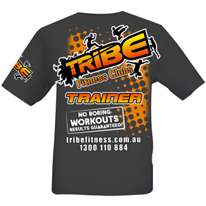 T-shirt Design job – Tribe - Adventurous, Fun, Exciting, Social Fitness Club needs a T-Shirt with Attitude! – Winning design by Kreative Ideaz
