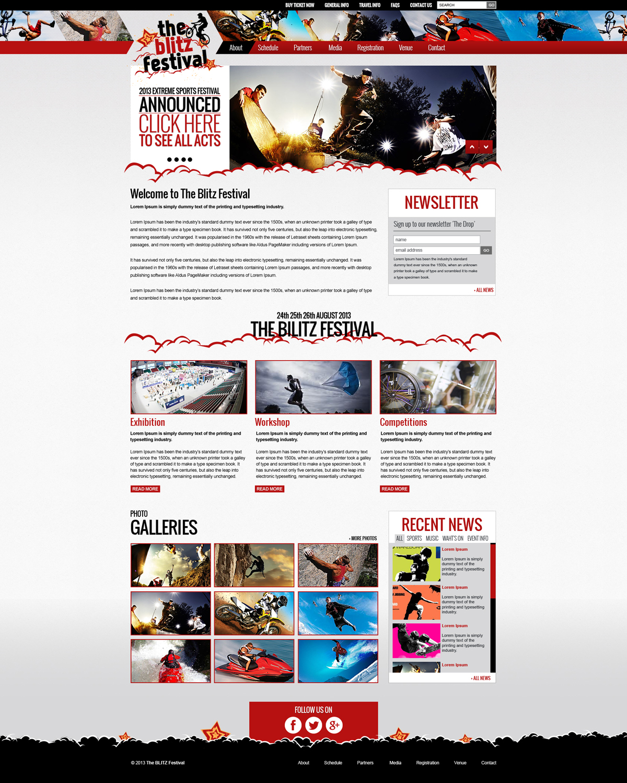 Personable masculine web design for oakmont sands by for Masculine web design