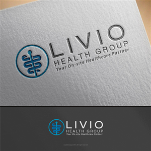 Livio Health Group. Tag line - Your On-Site Healthcare Partner | Logo Design by madeli