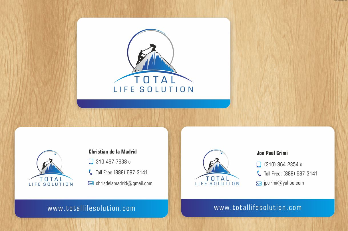 Economical, Playful, It Company Business Card Design for Total Life ...