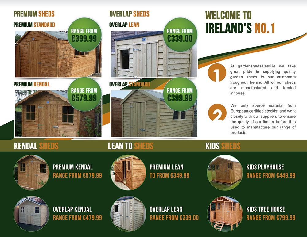 brochure design by designbox for brochure design for garden shed range for wwwgardensheds4less