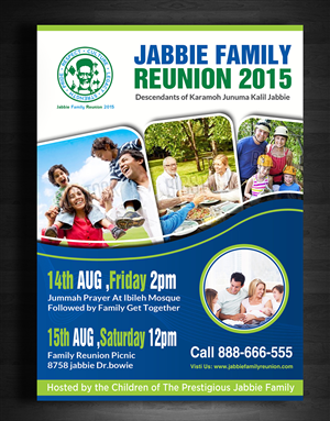 Flyer Design (Design #6470972) Submitted To Jabbie Family Reunion Flyer  (Closed)  Family Reunion Flyer